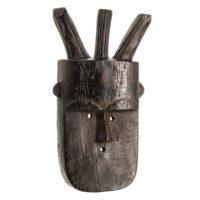 Máscara Angbai, Toma, Guiné / Liberia, Séc. XX, madeira, 20x37x7cm – REF CCT21-022