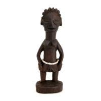 Figura Gemelar Hohovi Feminina, Fon, Benim, Séc. XX, madeira pintada, 4x13x2cm – REF CC21-019 [INDISPONÍVEL / UNAVAILABLE]