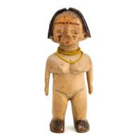 Figura Gemelar Venavi Feminina, Ewe, Gana, Séc. XX, madeira pintada, contas, 10x23x6cm – REF CC21-033