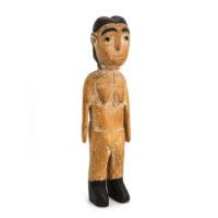 Figura Gemelar Feminina, Venavi, Ewe, Gana, Séc. XX, madeira pintada, 7x26x6cm – Ref CC20-107