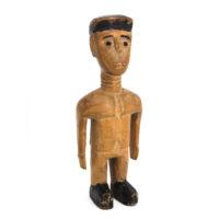 Figura Gemelar Venavi Masculina, Ewe, Gana, Séc. XX, Madeira pintada, 7x19x5cm – Ref CC20-186