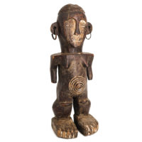 Figura Ritual, Boa, R.D. Congo, Séc. XX, madeira, metal, 17x47x17cm – Ref CCT21-041 [INDISPONÍVEL / UNAVAILABLE]