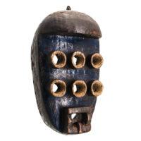 Máscara Kru, Grebo, Libéria, Séc. XX, madeira, pigmentos, 19x33x12cm – Ref CCT21-024