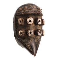 Máscara Kru, Grebo, Libéria, Séc. XX, madeira, pigmentos, 20x31x14cm – Ref CCT21-045