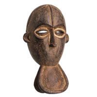 Máscara Gre, Bete, Costa do Marfim, Séc. XX, madeira, pigmentos, 17x31x12cm – Ref CCT21-046