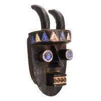 Máscara Ritual, Grebo, Libéria, Séc. XX, madeira, pigmentos, 18x37x15cm – Ref CCT21-037 [COLECÇÃO CRUZES CANHOTO]