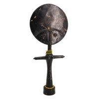 Boneca de Fertilidade Akuaba, Ashanti, Gana, Séc. XX, madeira, contas, 16x38x6cm – Ref CCT21-036