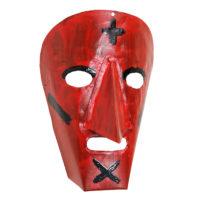 Máscara de Ritual de Inverno Transmontano, Filipe e Sofia, Podence, Macedo de Cavaleiros, 2021, metal pintado, 15x21x10cm – Ref CCP21-076