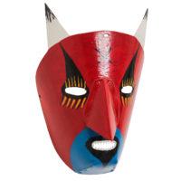 Máscara de Ritual de Inverno Transmontano, Tó Alves, Varge, Bragança, 2021, plástico pintado, 18x27x14cm – Ref CCP21-104