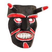 Máscara de Ritual de Inverno Transmontano, Tozé Vale, Vila Boa de Ousilhão, Vinhais, 2021, madeira pintada, 26x29x15cm – Ref CCP21-088