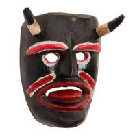 Máscara de Ritual de Inverno Transmontano, Tozé Vale, Vila Boa de Ousilhão, Vinhais, 2021, madeira pintada, 22x27x13cm – Ref CCP21-089