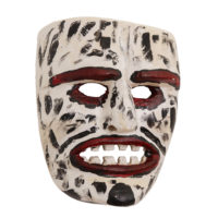 Máscara de Ritual de Inverno Transmontano, Tozé Vale, Vila Boa de Ousilhão, Vinhais, 2021, madeira pintada, 18x22x9cm – Ref CCP21-090