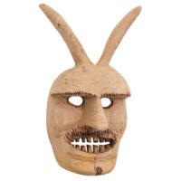 Máscara de Ritual de Inverno Transmontano, Tozé Vale, Vila Boa de Ousilhão, Vinhais, 2021, madeira, 26x41x14cm – Ref CCP21-091