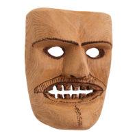 Máscara de Ritual de Inverno Transmontano, Tozé Vale, Vila Boa de Ousilhão, Vinhais, 2021, madeira, 18x24x10cm – Ref CCP21-093