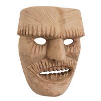 Máscara de Ritual de Inverno Transmontano, Tozé Vale, Vila Boa de Ousilhão, Vinhais, 2021, madeira, 19x24x10cm – Ref CCP21-094