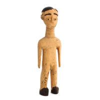 Figura Gemelar Venavi Masculina, Ewe, Gana, Séc. XX, madeira pintada, 7x22x4cm – Ref CCT21-052
