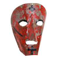 Máscara de Ritual de Inverno Transmontano, Filipe e Sofia, Podence, Macedo de Cavaleiros, 2021, metal pintado, 15x21x10cm – Ref CCP21-078