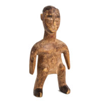 Figura Gemelar Venavi Masculina, Ewe, Gana, Séc. XX, madeira pintada, 8x16x5cm – Ref CCT21-054