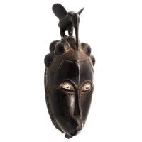 Máscara Ritual, Baule, Costa do Marfim, Séc. XX, madeira, pigmentos, 16×40×15cm – Ref CCT21-049