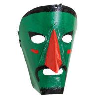 Máscara de Ritual de Inverno Transmontano, Filipe e Sofia, Podence, Macedo de Cavaleiros, 2021, metal pintado, 15x21x10cm – Ref CCP21-080