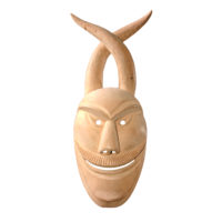 """Máscara de ritual de inverno transmontano"", Costinha, Lazarim, 2013, madeira"