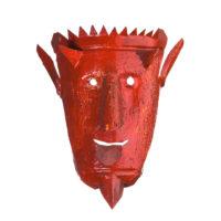 """Máscara de ritual de inverno transmontano"", Germano Macedo, Bragança, 2006, metal pintado"