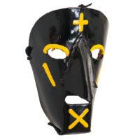 Máscara de Ritual de Inverno Transmontano, Filipe e Sofia, Podence, Macedo de Cavaleiros, 2021, couro pintado, 15x21x10cm – Ref CCP21-084