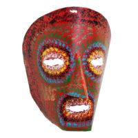 Máscara dos Rituais de Inverno Transmontano, Tó Alves, Varge - Bragança, 2021, metal pintado, 17x21x14cm – Ref CCP21-107 [INDISPONÍVEL / UNAVAILABLE]