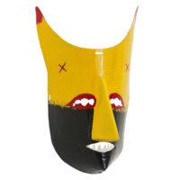 Máscara dos Rituais de Inverno Transmontano, Tó Alves, Varge - Bragança, 2021, metal pintado, 20x32x15cm – Ref CCP21-109