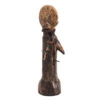 Figura de Fertilidade Biga, Mossi, Burkina Faso, Séc. XX, madeira, couro, 6x21x8cm – Ref CCT21-066