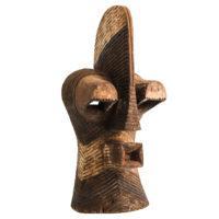 Máscara Kifwebe, Songye, R.D. Congo, Séc. XX, madeira, pigmentos, 21x50x20cm – Ref CCT21-072