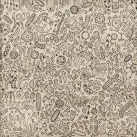 Sem título, 2020, caneta sobre papel de parede, 52x52cm – Ref CCMP21-013