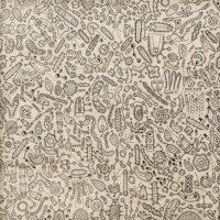 Sem título, 2020, caneta sobre papel de parede, 52x52cm – Ref CCMP21-015