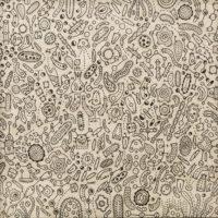 Sem título, 2020, caneta sobre papel de parede, 52x52cm – Ref CCMP21-016