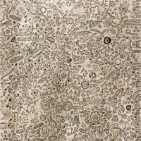 Sem título, 2020, caneta sobre tela, 54x65cm – Ref CCMP21-017