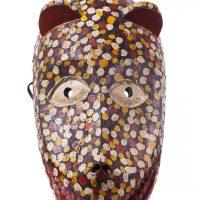 Máscara Sogobo, Bamana, séc. XX, Mali, Madeira, pigmentos, 20x36