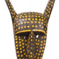 Máscara Sogobo, Bamana, séc. XX, Mali, Madeira, pigmentos, 30x47