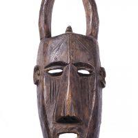 Máscara dogon gnu, Dogon, séc. XX, Mali, Madeira, 21x52