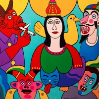 """A Santa e os Emplastros"", 2014, Óleo sobre tela, 130x97cm [INDISPONÍVEL / UNAVAILABLE]"