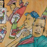 """Filipe Cerqueira, """"Sem título"""", 2015, Acrílico e aguarela sobre papel, 70x50 [INDISPONÍVEL / UNAVAILABLE]"""