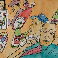 """Sem título"", 2015, acrílico e aguarela sobre papel, 70x50cm [INDISPONÍVEL / UNAVAILABLE]"