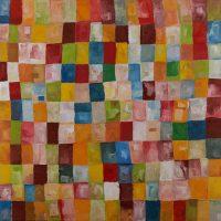 """Helder Rodrigues, """"Quadradinhos"""", 2015, Óleo sobre tela, 80x80 [INDISPONÍVEL / UNAVAILABLE]"""