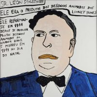 """""""Leon Schlesinger"""", 2014, acrílico sobre papel, 30x30cm [INDISPONÍVEL / UNAVAILABLE]"""