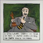 """Filipe Cerqueira, """"Stan Laurel ganhou um Óscar"""", 2014, Acrílico sobre papel, 30x30 [INDISPONÍVEL / UNAVAILABLE]"""