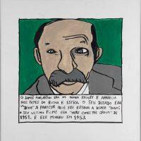 """""""James Finlayson"""", 2014, acrílico sobre papel, 30x30cm [INDISPONÍVEL / UNAVAILABLE]"""