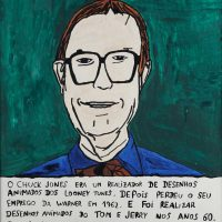 """""""Chuck Jones"""", 2015, acrílico sobre papel, 30x32cm [INDISPONÍVEL / UNAVAILABLE]"""