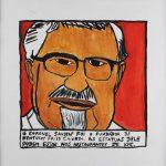 """Filipe Cerqueira, """"Coronel Sanders KFC"""", 2014, Acrílico sobre papel, 30x30 [INDISPONÍVEL / UNAVAILABLE]"""