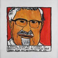 """""""Coronel Sanders KFC"""", 2014, acrílico sobre papel, 30x30cm [INDISPONÍVEL / UNAVAILABLE]"""