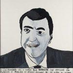 """Filipe Cerqueira, """"Lou Scheimer"""", 2014, Acrílico e aguarela sobre papel, 36x38 [INDISPONÍVEL / UNAVAILABLE]"""