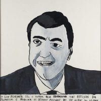 """Lou Scheimer"", 2014, acrílico e aguarela sobre papel, 36x38cm [INDISPONÍVEL / UNAVAILABLE]"